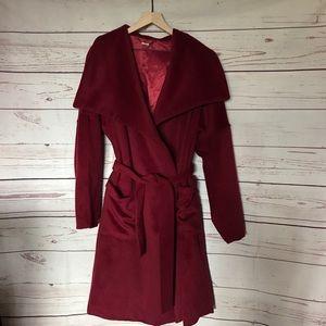 Anthropologie Capulet Fulton Wrap Wool Coat Size L